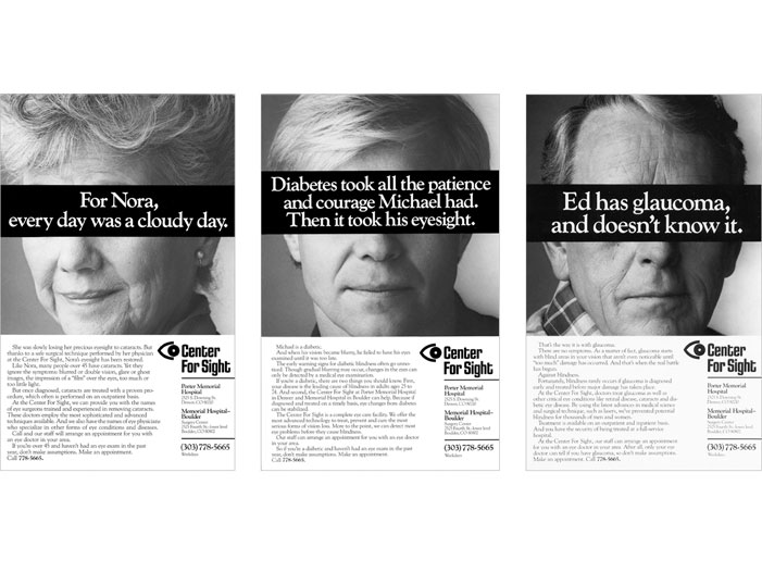 Center for Sight Ad Campaign
