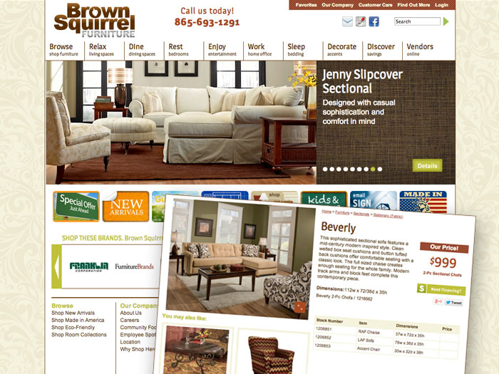 Brown Squirrel Furniture Website