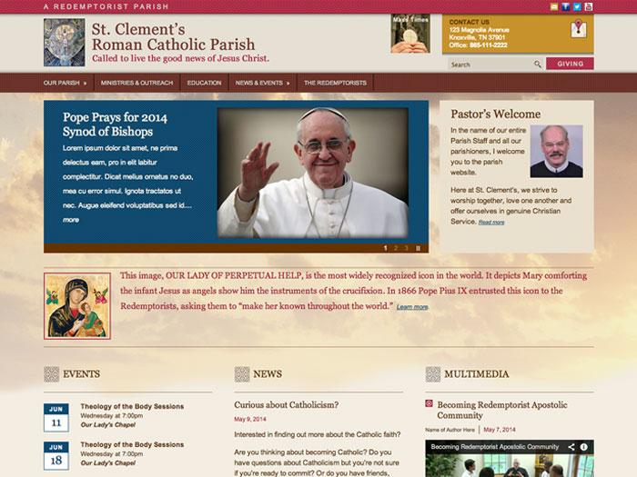An interactive church website template