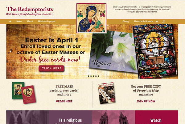 Redemptorists Web