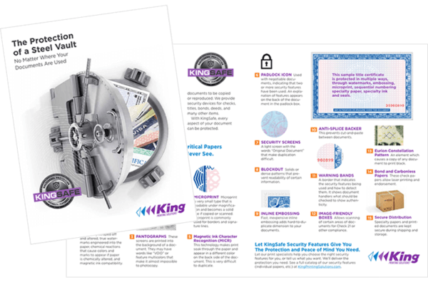 KingSafe Secure Documents Brochure